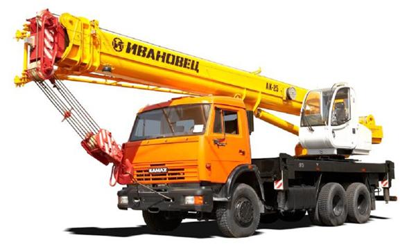 аренда автокрана 25 тонн 31 метр Ивановец